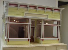 """Victorian Store Front Handcrafted 1"""" Scale by VictoriansInScale"""