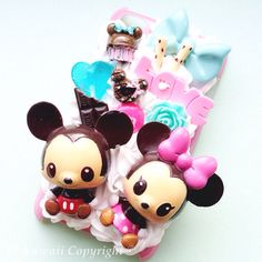 Mickey and Minnie Mouse kawaii decoden case available at https://www.etsy.com/listing/128416211/mickey-and-minnie-baby-decoden-kawaii