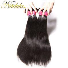 Top Quality 7a Malaysian Virgin Hair Straight Human Hair Weaves 3 Bundles/Lot Nadula Hair Products Cheap Malaysian Straight Hair