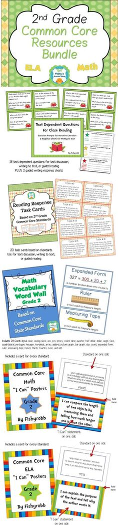 Big bundle of Common Core resources for 2nd grade