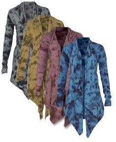 SoulFlower-NEW! Organic Tie-Dye Draped Cardigan#letlifeflow #soulflowercontest
