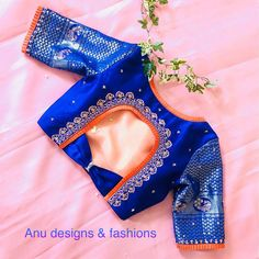 Find here the most unique blouse designs for south indian brides. From bird motifs to long sleeves, blouse for silk sarees to kanjeevarams, we have it all. Pattu Saree Blouse Designs, Simple Blouse Designs, Stylish Blouse Design, Fancy Blouse Designs, Bridal Blouse Designs, Blouse Neck Designs, Blouse Styles, Saree Blouse Patterns, Lehenga Blouse