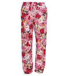 Peter Alexander - Women - PJ Pants - Silk Blend Red Floral PJ Pants