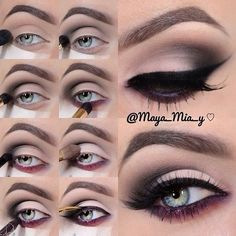 Taupe plum makeup tutorial. Love following this girl on Instagram. Always has the best looks