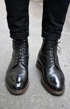 Boots leather fashion men tumblr black on black tumblr