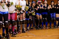 Roller-derby flower girls. | 23 Super Cute Lesbian Wedding Ideas
