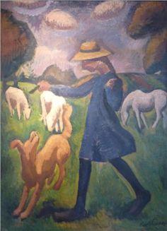 The shepherdess. Spring Marie Child  - Roger de La Fresnaye