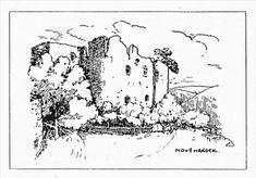 Kresba nádvoří Nového Hrádku, pohled na průčelí mladšího hradu. Publikováno v časopise Krása našeho domova, ročník 1931, číslo 6, strana 85. Diagram, Art, Art Background, Kunst, Performing Arts, Art Education Resources, Artworks