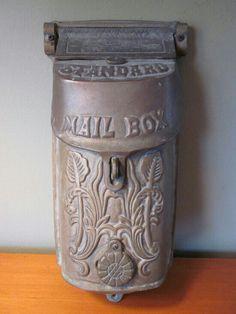 Funny Mailboxes, Home Mailboxes, Unique Mailboxes, Antique Mailbox, Vintage Mailbox, Post Bus, Art Nouveau, Art Deco, Mailbox Post