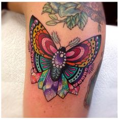 Butterfly with Crystals tattoo