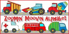 Free preschool curriculums - ZoominMovinAlphabet for Jude