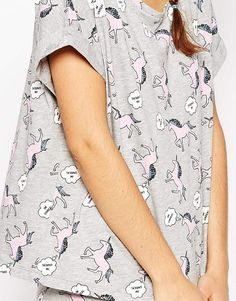Image 3 - ASOS - Im Unreal - Pyjama t-shirt et legging à motif licorne et texte imprimé