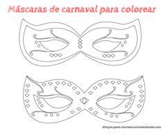 Carnival masks coloring. Máscaras de carnaval para colorear. http://dibujos-para-colorear.euroresidentes.com/2014/02/6-mascaras-de-carnaval-para-colorear.html