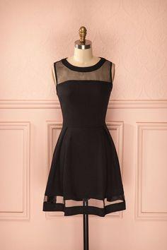 Vintage Prom Dress, Black Prom Gowns, Mini Short Homecoming Dress