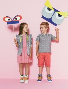 Kids style trends and their little monster friends