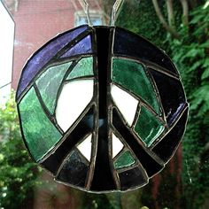 Peace Mandala in Glass by Wayne Stratz