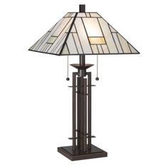 Franklin Iron Works™ Wrought Iron Tiffany-Style Table Lamp