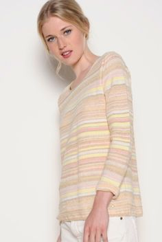 Pretty spring colours in this lightweight knit from Des Petits Hauts