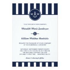 Seemarine-Hochzeits-Einladung 12,7 X 17,8 Cm Einladungskarte