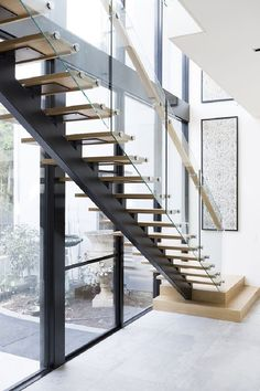 Top 10 Unique Modern Staircase Design Ideas for Your Dream House - - Most people dream of a big house with two or more floors. SelengkapnyaTop 10 Unique Modern Staircase Design Ideas for Your Dream House. Stairs Window, Open Stairs, Glass Stairs, Concrete Stairs, House Stairs, Basement Stairs, Wood Stairs, Painted Stairs, Entryway Stairs