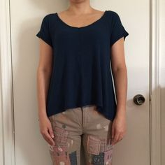 Anthropology top Super cute Anthropologie top. Only worn once! Soft and comfortable! Size small but loose fit! Anthropologie Tops Tees - Short Sleeve