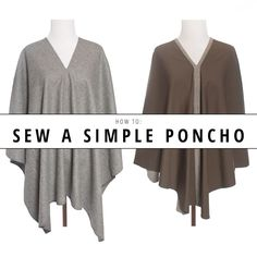 Two rectangles of fabric and a few straight seams is all it takes to make your own cozy winter poncho. Get the step-by-step instructions on the blog! | Indiesew.com