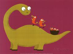 Joli Dino Reproduction d'art