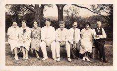 Black and White Vintage Snapshot Photograph Family Log Smile Dress 1920'S | eBay