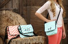 Super screaming deal on this adorable chevron messenger bag!