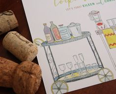 Cocktails & Cookbooks / stock the bar / kitchen by TennHensDesign