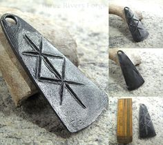 A bind rune pendant... or just a nice symmetrical design that would look great on a key chain.