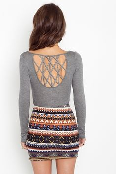 latice knit top and tribal skirt