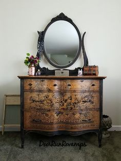 Antique Dresser with Mirror On Wooden Wheels . Antique Dresser with Mirror On Wooden Wheels . Details About Antique 1909 Vintage Dresser with Mirror Vintage Dressers, Old Dressers, Antique Dresser Redo, Rustic Dresser, Painted Dressers, Antique Vanity, Vaisseliers Vintage, Paint Furniture, Rustic Furniture