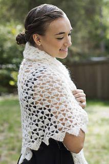 Cloud Wrap - free crochet pattern by Laura Krzak / Cascade Yarns Website.