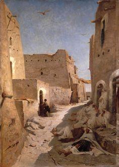 Eugène Fromentin, Une rue à El-Aghouat, 1859