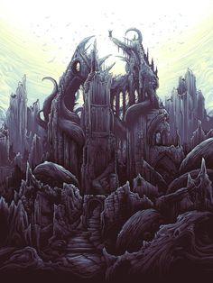 Reimagine Classic Movies Through The Acid-Trip Style Of Artist Dan Mumford Dark Fantasy Art, Fantasy Artwork, Final Fantasy, Dan Mumford, Acid Art, Landscape Tattoo, Medieval, Gun Art, Illustrations