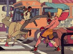 """""""Street Fight"""" by Afu Chan*  • Blog/Website 