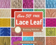 50 Free Lace Leaf Knitting Stitches