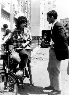 """cinemarhplus: """" Anna Magnani and Pier Paolo Pasolini on the set of Mamma Roma """""""