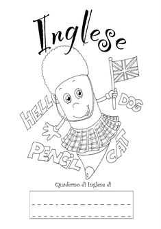English Time, English Book, English Activities, Activities For Kids, Notebook Covers, Coloring Pages, Back To School, Improve Yourself, Homeschool