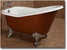 54 Inch Cast Iron Slipper Bathtub from Shop 4 Classics Vintage