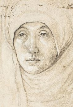 Hans Holbein the Elder, German, c. 1465 - 1524 Portrait of a Woman [recto] c. 1508 silverpoint, brush and black and brown ink, and black chalk heightened with white on white prepared paper overall (Oval) Hans Holbein The Younger, Silverpoint, Landsknecht, National Gallery Of Art, Portraits, Renaissance Art, Gravure, Luther, Painting & Drawing