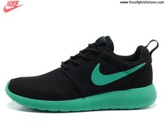 051528a0af1d Buy 2013 New Mens Nike Roshe Run Black Stadium Green Volt Shoes For Sale Nike  Shoes