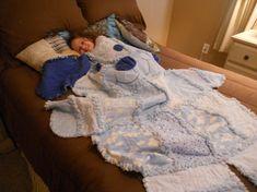 Dog Bear Animal Rag Quilt    Custom Order by memomslove on Etsy, $79.00