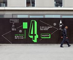 Panique à L'UCP—Installation Typographique, Signaletique Environmental Graphics, Environmental Design, Signage Design, Banner Design, Fence Design, Wall Design, Branding, Luther, Hoarding Design