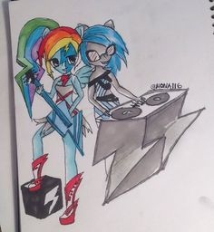 My Drawing. With this I actually won a competition and i got 2 equrestria girl dolls so i am quite proud :33
