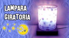 Como Hacer Lámparas Giratorias | Experimentos Caseros Balloon Decorations, Light Decorations, Diy Lampe, Make A Lamp, Fairy Lights, Shot Glass, Lanterns, Balloons, Logo Design