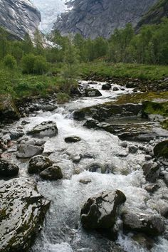 A glacial stream in the Norweigan Fjords
