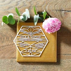 Bespoke Geometric Custom Laser Cut Wedding Invitations