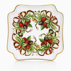 Tiffany Holiday™ hors d'oeuvres plate in porcelain.